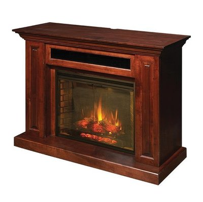 Amish Hiland Entertainment Center with Electric Fireplace
