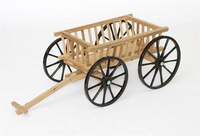Amish Made Cedar Decorative Pumpkin Wagon