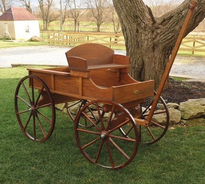 Amish Old Fashioned Buckboard Wagon Large Rustic