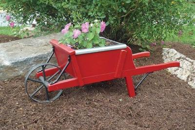 Amish Old Fashioned Mini Wheelbarrow