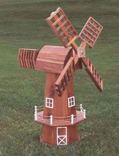 Amish Red Cedar Windmill with Cedar Top