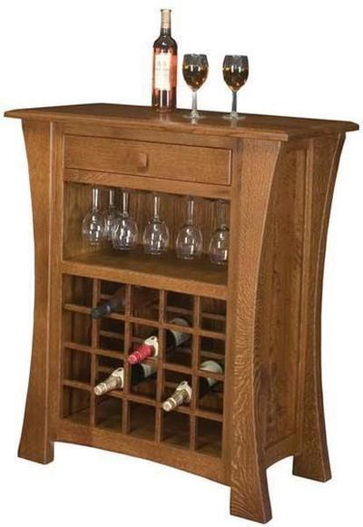 Amish Arts and Crafts Wine Cabinet