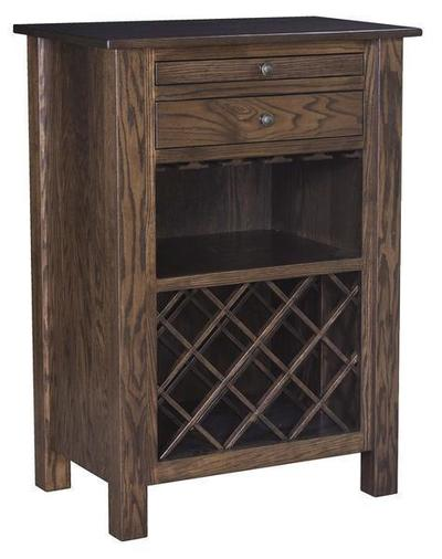 Amish Dillon Bar and Wine Cabinet