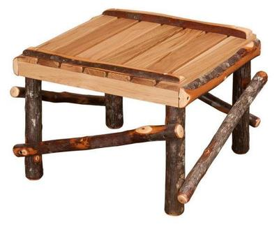 Amish Hickory Twig Rustic Footstool
