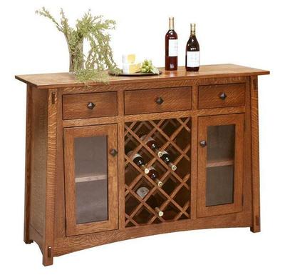 Amish McCoy Bar and Wine Cabinet