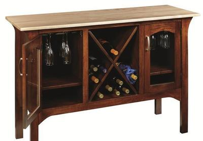 Amish Monarch Bar and Wine Cabinet