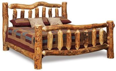 Amish Rustic Log Bed