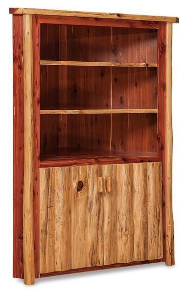 Amish Rustic Log Corner Hutch