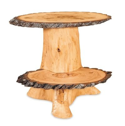 Rustic Stump Accent Table