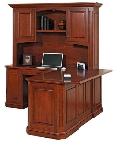 Amish Buckingham Corner L Desk with Optional Hutch