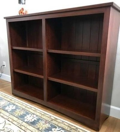 Bookcase with shiplap back
