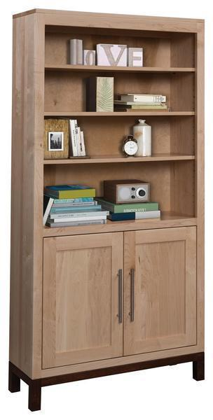 Amish 36 Vienna Bookcase with Optional Doors