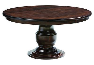 Amish Ziglar Pedestal Table