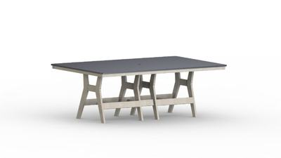 Berlin Gardens Harbor Rectangular Poly Table with Hammered Poly Top