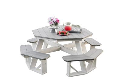 Outdoor Poly Furniture Heritage Octagon Picnic Table