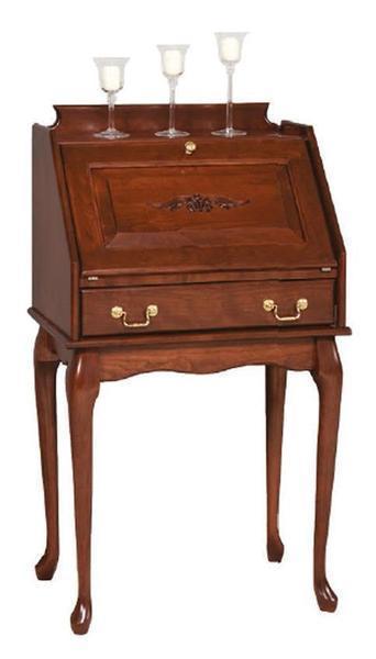 Amish Queen Anne Secretary Desk