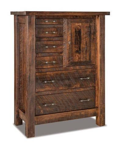 Amish Rustic Houston Gentlemans Chest of Drawers