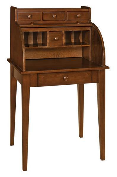 Amish Shaker Secretary Roll Top Desk