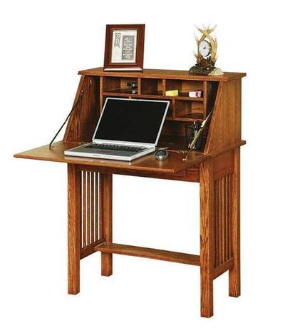 Solid Wood Mission Style Secretary Desk
