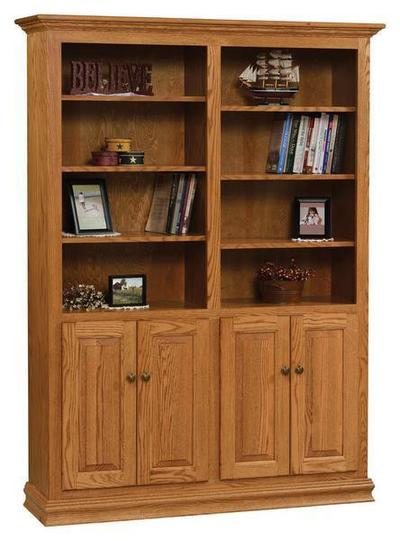 Amish 48 Traditional Bookcase with Optional Doors