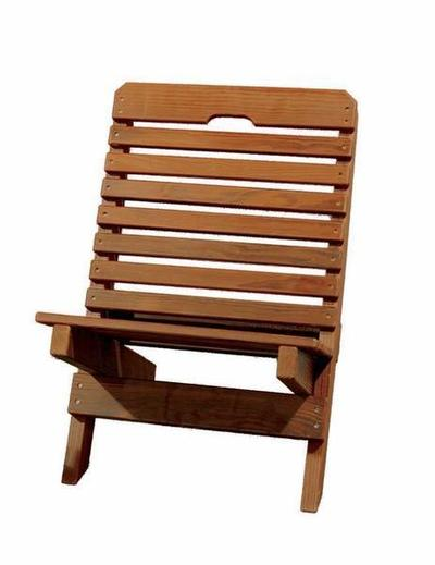 Amish Cedar Fishermans Folding Chair