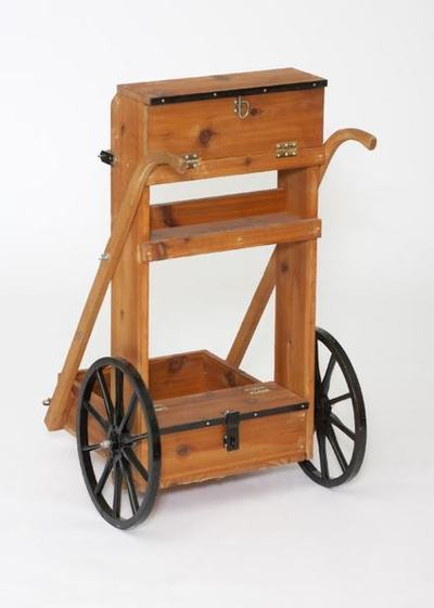 Amish Cedar Wood Mobile Gun Cart