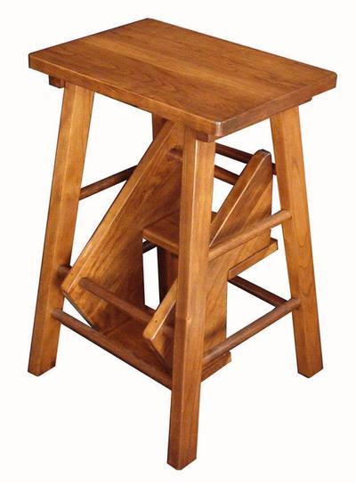 Amish Hardwood Folding Stepstool