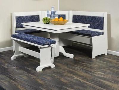 Amish Made Custom Upholstered Traditional Nook Set