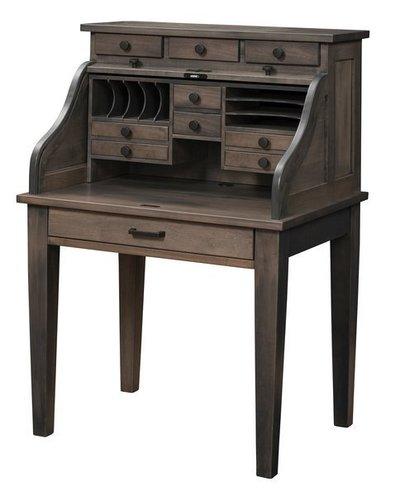 Amish Mission Secretary Roll Top Desk