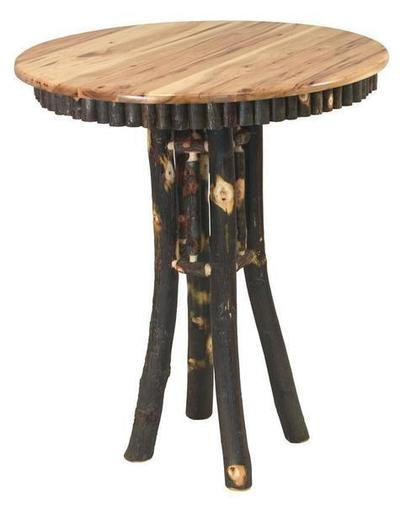 Amish Noble Rustic Hickory Pub Table