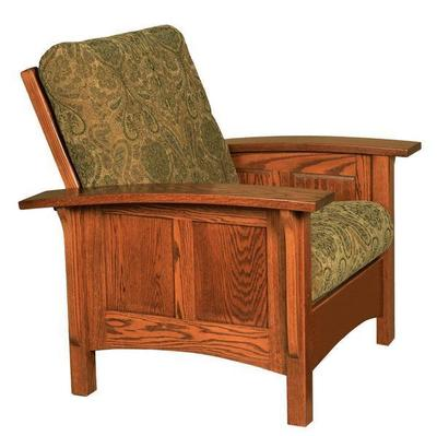 Amish Paneled Mission Morris Chair