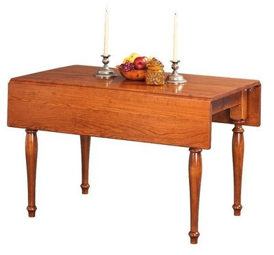 Amish Square Hamel Dropleaf Extension Dining Table