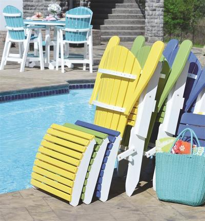 Berlin Gardens Comfo Back Folding Poly Adirondack Chair Closed