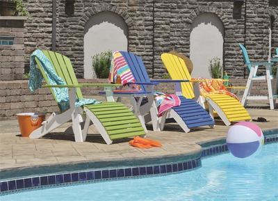 Berlin Gardens Comfo Back Folding Poly Adirondack Chair