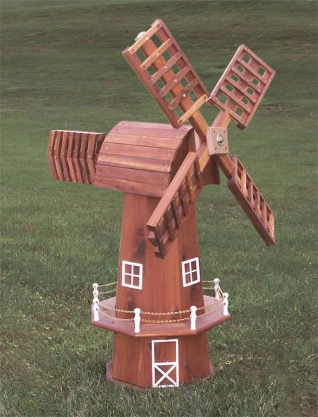 Amish Red Cedar Windmill with Cedar Top