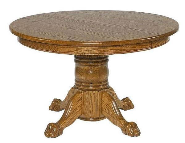 """Amish 48"""" Round Single Pedestal Dining Table"""