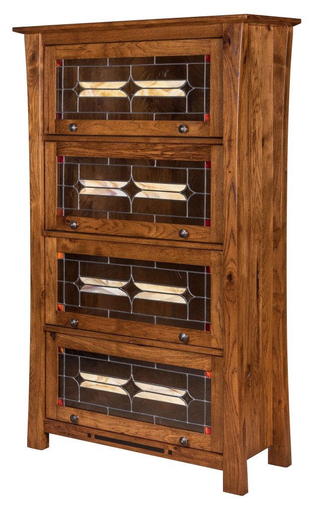 Amish Arts and Crafts Barrister Bookcase Doors Closed