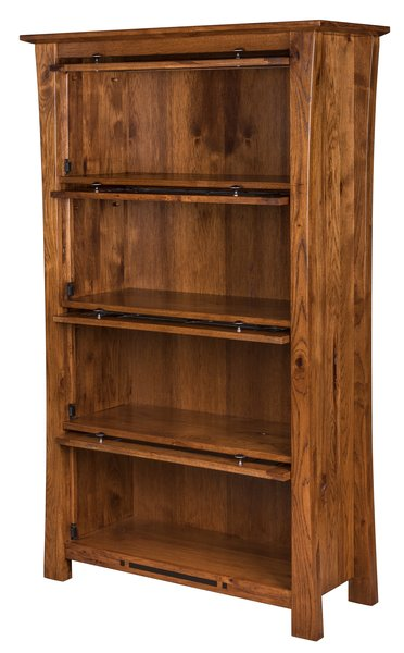 Amish Arts and Crafts Barrister Bookcase doors open