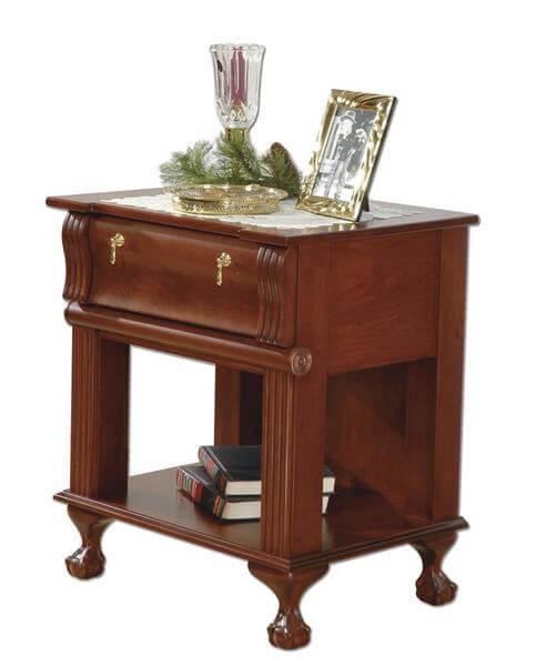 Amish Dalbey Open Shelf Nightstand