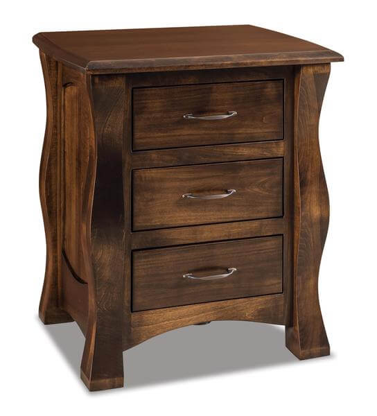Amish Reno Three Drawer Nightstand