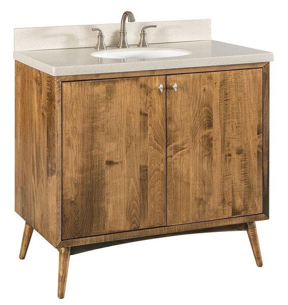 Amish 36 Mid Century Modern Bathroom Vanity
