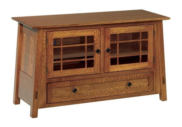 Amish McCoy Mission Television  Stand with Drawer