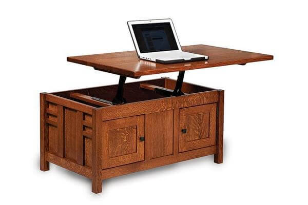 Amish Kascade Mission Enclosed Lift Top Coffee Table