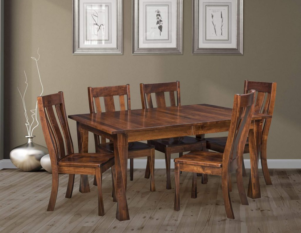 Amish Brown Maple Oxnard Extension Table Quick Ship