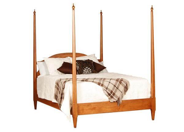 Amish Canterbury Pencil Post Bed