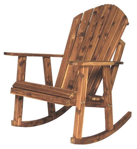 Amish Cedar Wood Adirondack Rocking Chair