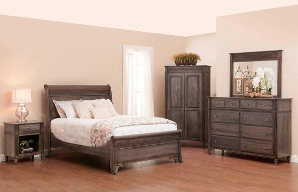 Amish Eminence Five Piece Bedroom Set