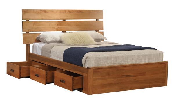Amish Galaxy Slat Platform Bed with Drawers