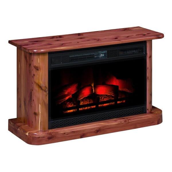Amish Rustic Cedar Electric Fireplace