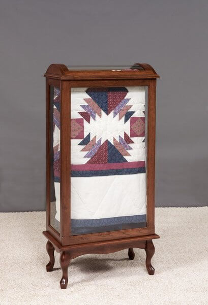 Amish Large Queen Anne Quilt Rack Display Case